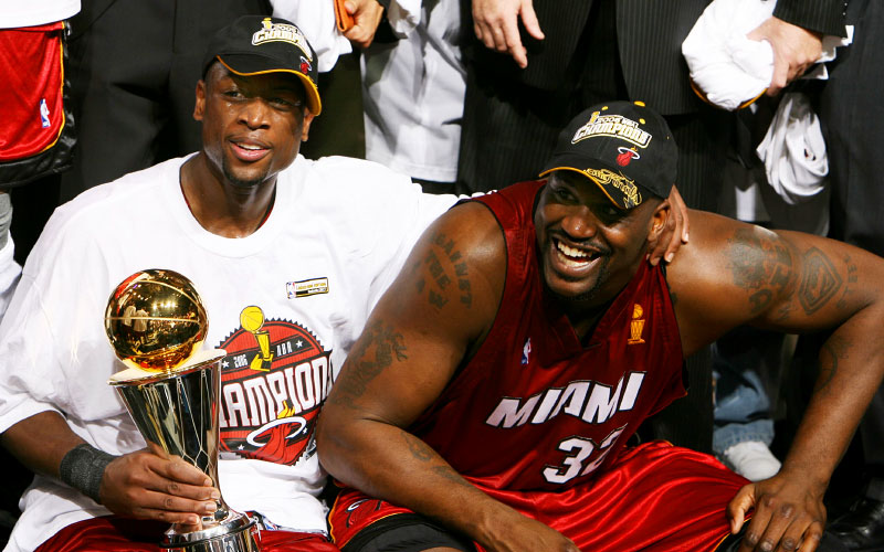 Wade and Shaq 2006 Cavs NBA Champion.png